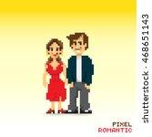 pixel romantic couple ...   Shutterstock .eps vector #468651143