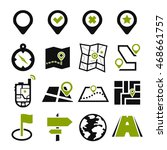 location  position icon set | Shutterstock .eps vector #468661757