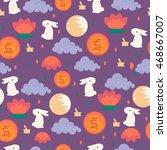 chinese mid autumn festival... | Shutterstock .eps vector #468667007