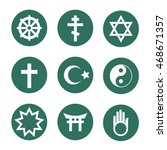 set of vector religious symbols ... | Shutterstock .eps vector #468671357