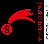 lucky money icon with bonus...   Shutterstock .eps vector #468675173
