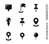 pin vector icons. simple...