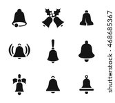 bell vector icons. simple... | Shutterstock .eps vector #468685367