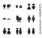 restroom vector icons. simple...