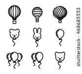 balloon vector icons. simple...