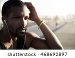 cropped outdoor portrait of... | Shutterstock . vector #468692897