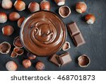 homemade hazelnut spread in... | Shutterstock . vector #468701873