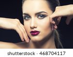 beauty fashion portrait of... | Shutterstock . vector #468704117