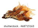 eel sashimi isolated on white...   Shutterstock . vector #468715163