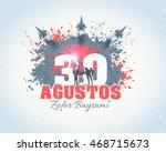 turkey national celebration... | Shutterstock .eps vector #468715673