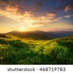 mountain valley during sunrise. ... | Shutterstock . vector #468719783