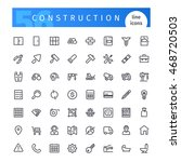 set of 56 construction line... | Shutterstock .eps vector #468720503