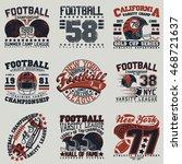 set of creative grunge t shirt... | Shutterstock .eps vector #468721637