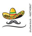 sombrero mustache   Shutterstock .eps vector #468740867