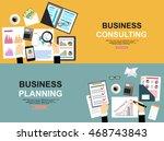 business planning flat...   Shutterstock .eps vector #468743843