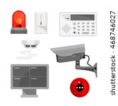 set of different security... | Shutterstock .eps vector #468746027