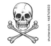 skull and crossbones for tattoo ...   Shutterstock .eps vector #468765833