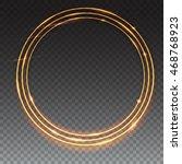 sparkling golden glow rings ... | Shutterstock .eps vector #468768923