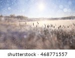 blurred background winter with...   Shutterstock . vector #468771557