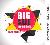 big sale with upto 60  off ... | Shutterstock .eps vector #468785363
