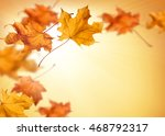fall background with orange and ... | Shutterstock . vector #468792317