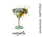 margarita cocktail on the... | Shutterstock .eps vector #468792563