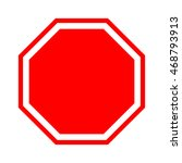 blank stop sign.