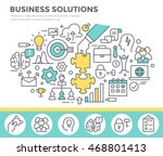 business solution concept... | Shutterstock .eps vector #468801413