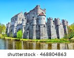 medieval gravensteen castle ... | Shutterstock . vector #468804863