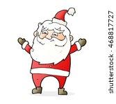 cartoon happy santa claus   Shutterstock . vector #468817727