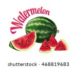 watermelon. vector illustration ... | Shutterstock .eps vector #468819683