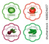 set of vector labels with hand... | Shutterstock .eps vector #468824657