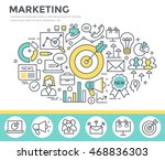 marketing concept illustration  ... | Shutterstock .eps vector #468836303