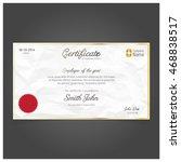 vector certificate template.   Shutterstock .eps vector #468838517