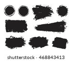 vector set of grunge artistic... | Shutterstock .eps vector #468843413