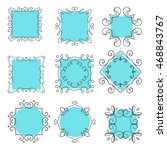 collection of hand drawn frames | Shutterstock .eps vector #468843767