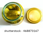 glass jar with pickled...   Shutterstock . vector #468873167