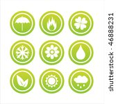 set of 9 green nature signs | Shutterstock .eps vector #46888231