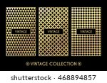 golden vintage pattern on black ... | Shutterstock .eps vector #468894857