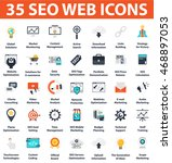 seo and development 35 icons... | Shutterstock .eps vector #468897053