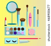 different vector cosmetic items | Shutterstock .eps vector #468900677