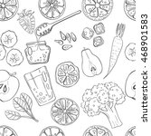 seamless pattern with set of... | Shutterstock .eps vector #468901583