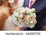 wedding bridal bouquet with...   Shutterstock . vector #46890709