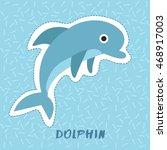 dolphin   cute animal set   ...