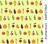 vegetables pattern. vector... | Shutterstock .eps vector #468927863