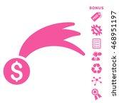 lucky money icon with bonus...   Shutterstock .eps vector #468951197
