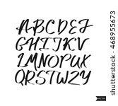 alphabet letters.black... | Shutterstock .eps vector #468955673