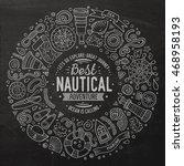 chalkboard vector hand drawn... | Shutterstock .eps vector #468958193