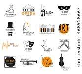 theater  ballet dance  opera... | Shutterstock .eps vector #468958667