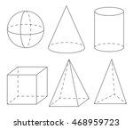 volume geometric shapes  sphere ... | Shutterstock .eps vector #468959723